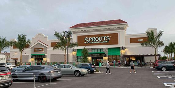 Storefront of Sprouts Farmers Market at Estero Grande