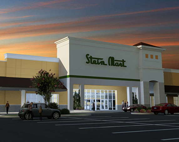 Exterior of Stein Mart building at Tamiami Crossing