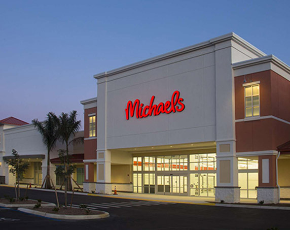 Exterior of Michaels building at Tamiami Crossing
