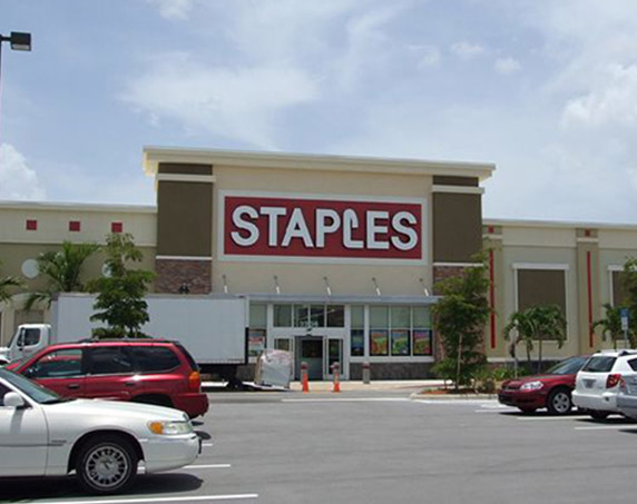 Staples storefront at The Forum at Fort Myers