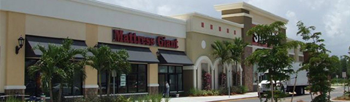 Mattress Giant storefront at The Forum at Fort Myers