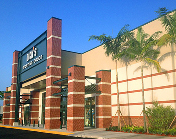 Dick's Sporting Goods storefront at The Plaza at Coral Springs II