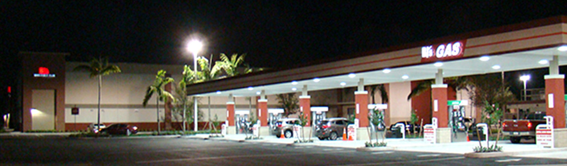 BJ's Wholesale Club gas pumps at The Plaza at Coral Springs II