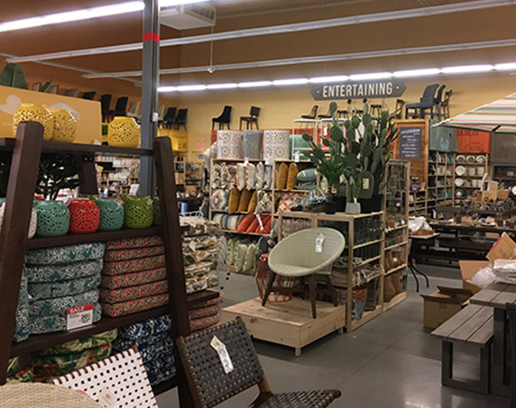 Interior product display area at Cost Plus World Market