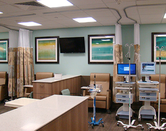 IV therapy patient seating stations