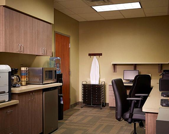 Interior office and break room