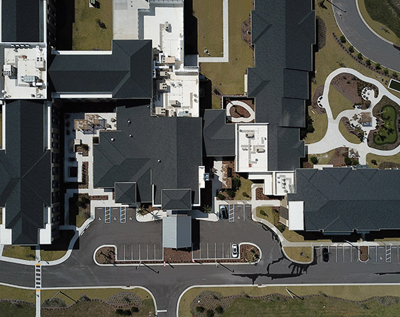 Exterior arial shot of entire property
