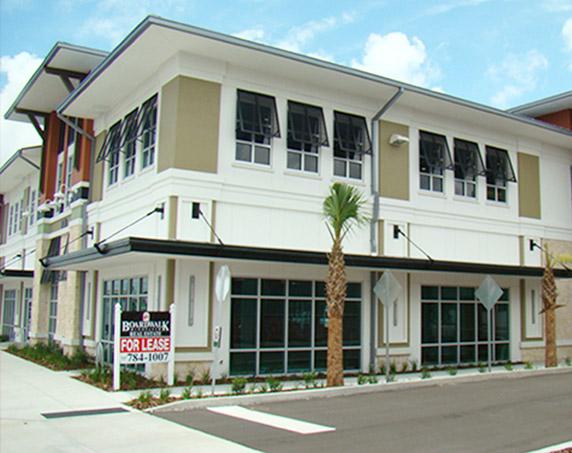Building exterior corner view